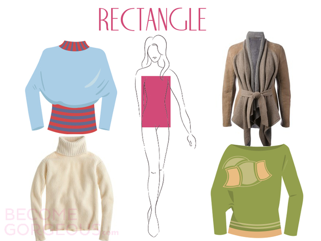 Sweaters For Rectangle Body