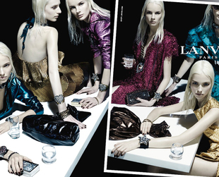 Check out the glam filled Lanvin spring 2014 ad campaign and pick your favorite looks.