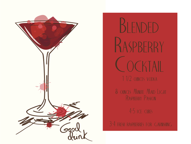 Blended Raspberry Cocktail Recipe