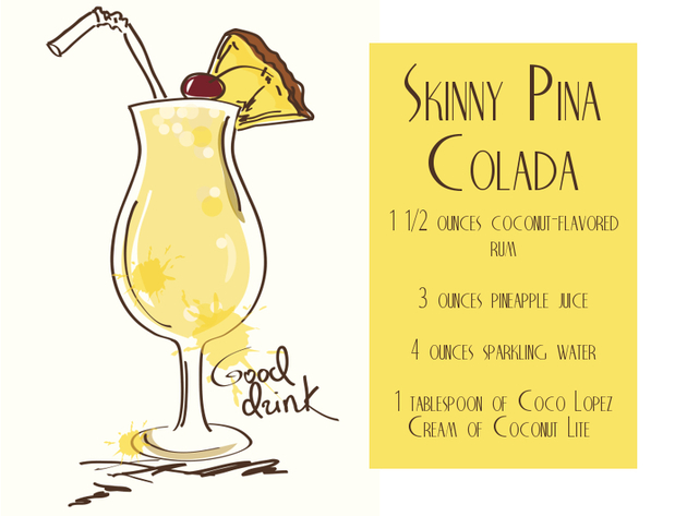 Low Calorie Pina Colada Cocktail Recipe