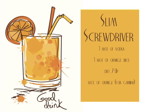 Slim Screwdriver Cocktail Recipe