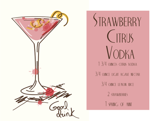 Strawberry Citrus Vodka Cocktail Recipe