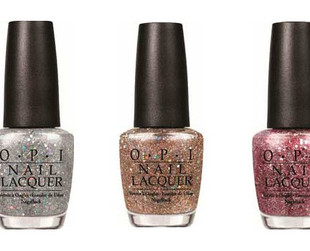 Six stunning new glittery OPI nail polish tones will hit the counters this spring. Find out more about the OPI Spotlight On Glitter spring 2014 line.