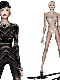 Roberto Cavalli for Miley Cyrus' Bangerz Tour Costume Sketches