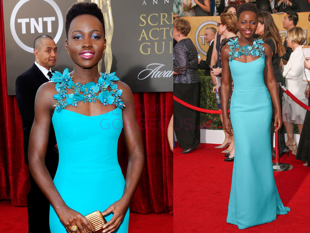 Lupita Nyongo 2014 Screen Actors Guild Awards