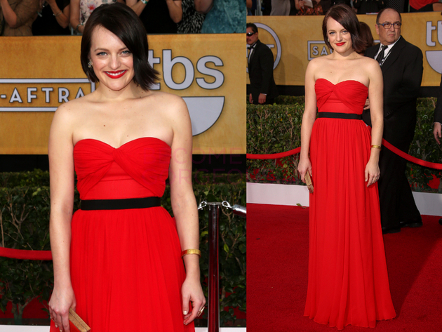Elizabeth Moss 2014 Screen Actors Guild Awards