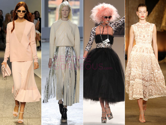 Tea Length Skirt Spring 2014 Trend