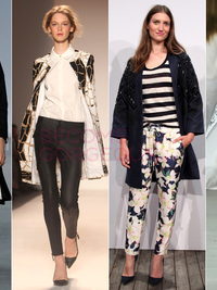 Collarless Coats Pring 2014 Trend