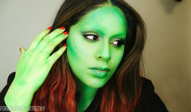 Gamora Makeup Halloween Costume
