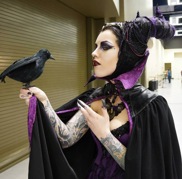 Maleficent Cosplay Halloween Costume