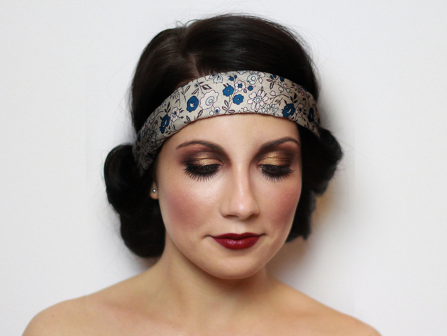 20s Halloween Makeup Finished Look