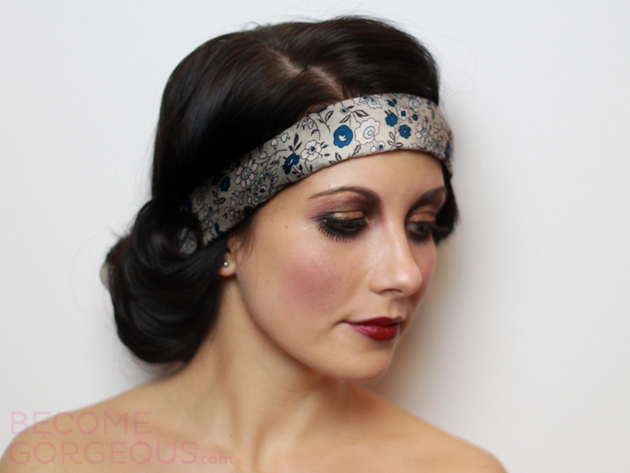 Twenties Hair And Makeup Look