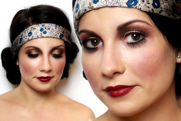 20s Flapper Makeup Tutorial for Halloween