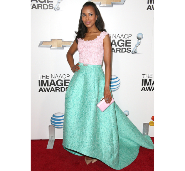 Oscar De La Renta Kerry Washington 2013 Naacp Image Awards