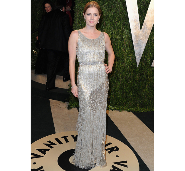 Oscar De La Renta Amy Adams 2013 Vanity Fair Oscars Party