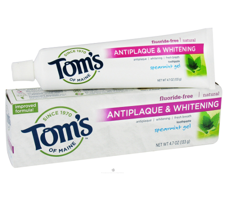 Tom Of Maine Antiplaque   Whitening Fluoride Free Toothpaste