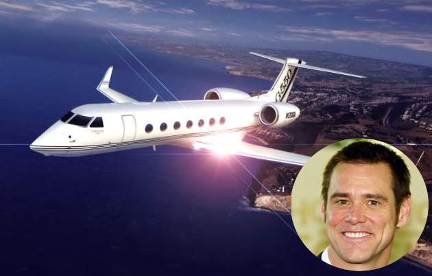Jim Carrey Private Jet