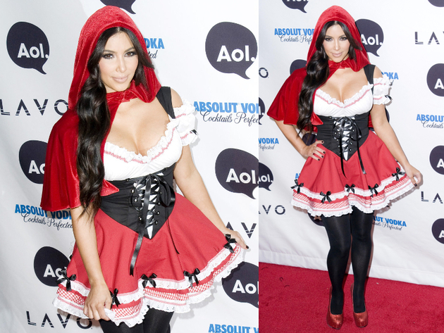 Kim Kardashian Little Red Riding Hood Halloween Costume