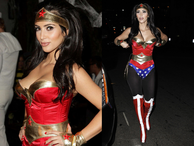 Kim Kardashian Wonder Woman Halloween Costume