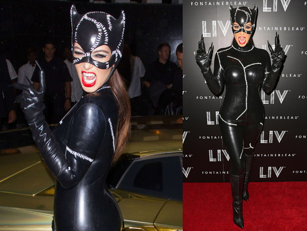 Kim Kardashian Cat Woman Halloween Costume