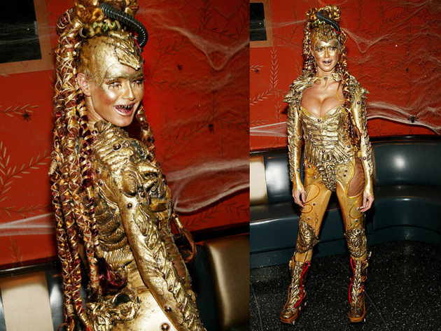 Heidi Klum Halloween 2003 Golden Goddess Costume