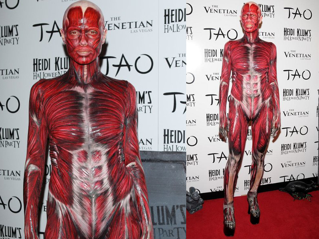 heidi klum halloween 2011 skinless costume definitely one of heidi klums craziest