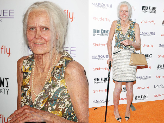 Heidi Klum Halloween 2013 Old Woman Costume