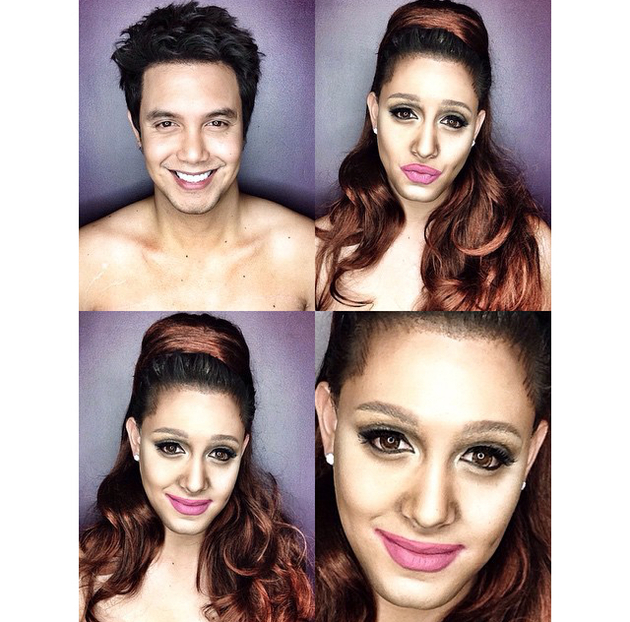 Man Transforms Into Ariana Grande With Makeup