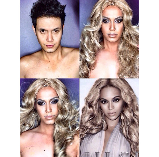 Man Transforms Into Beyonce With Makeup