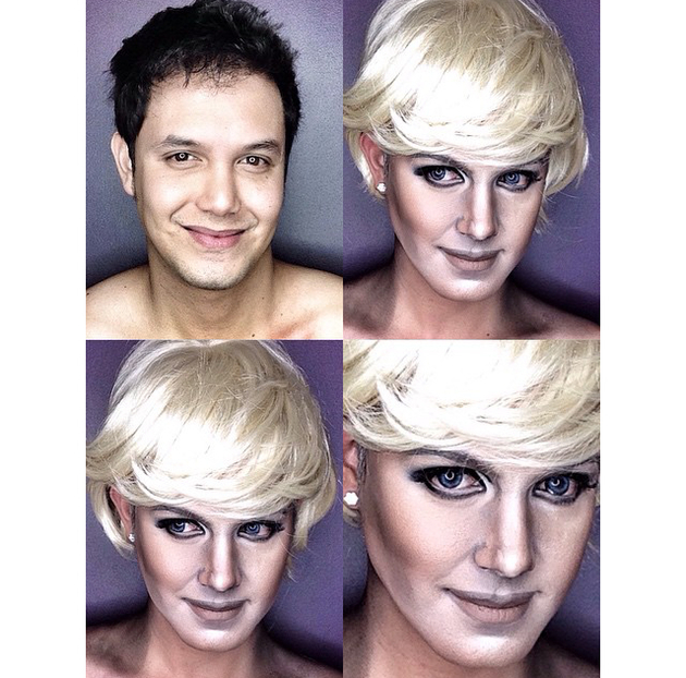 Man Transforms Into Princess Diana With Makeup