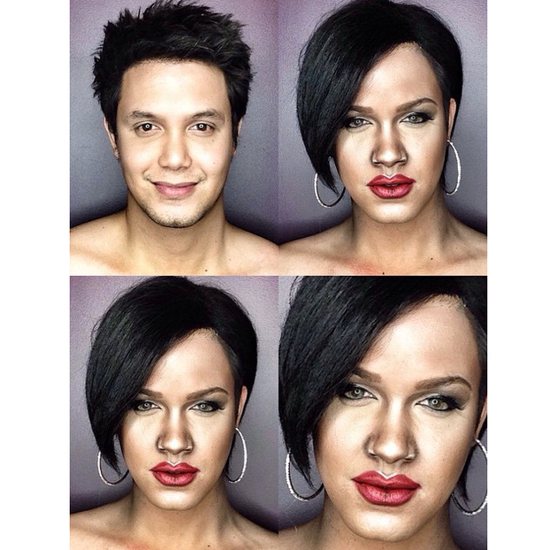 Man Transforms Into Rihanna With Makeup