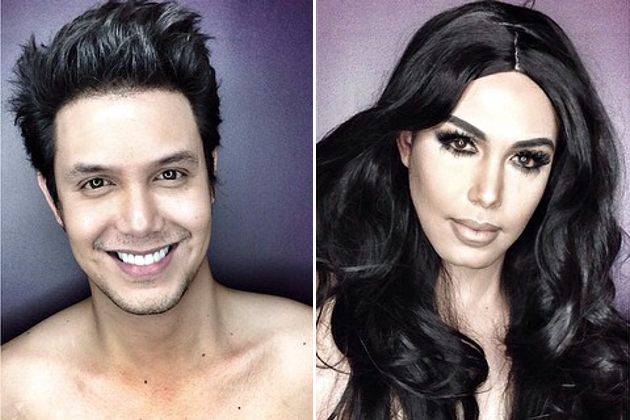 Amazing Makeup Skills! Man Transforms Into Female Celebrities