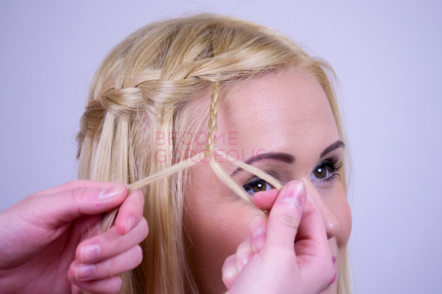 Modified Waterfall Braid Step 6