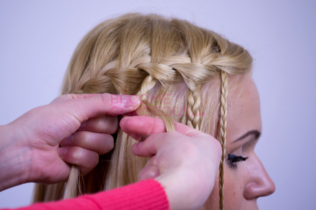 Modified Waterfall Braid Step 7