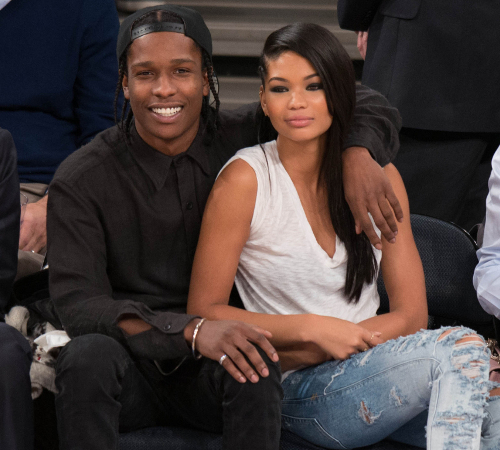 A Ap Rocky And Chanel Iman Stylish Couple