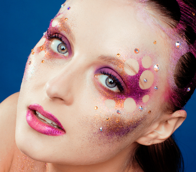 Rave Makeup With Glitter