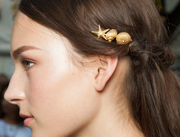 Gold Hair Accessories Spring 2015 Trends