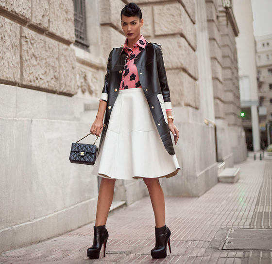Ankle Boots With A Line Skirt