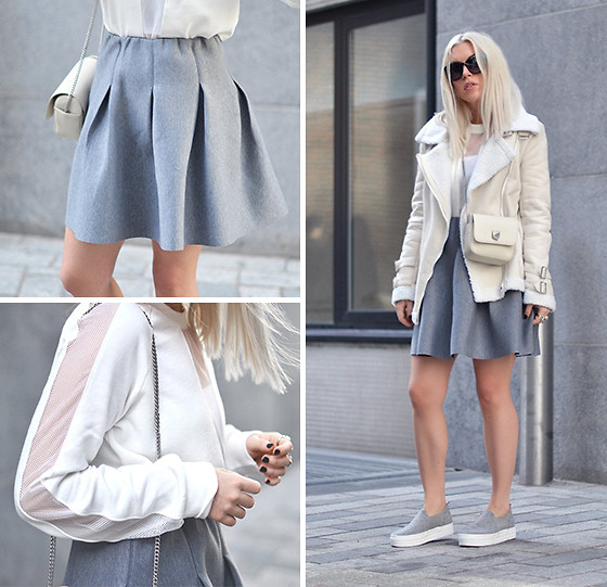 White Shearling Jacket Outfit