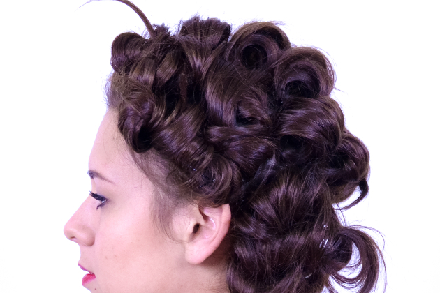 Overnight Curls With Bobby Pins