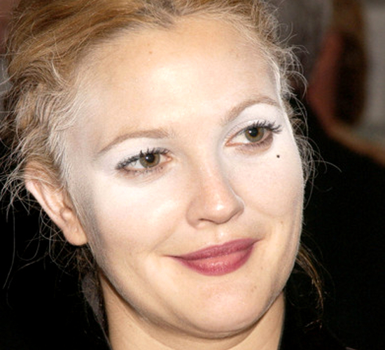 Drew Barrymore Makeup Fail