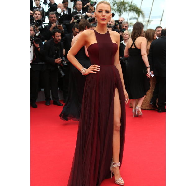 Blake Lively Wearing Marsala Color Of The Year 2015