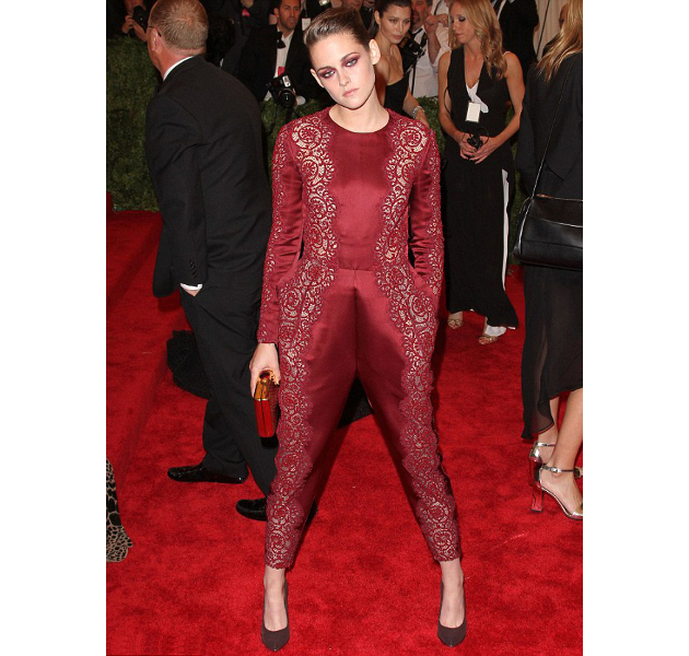 Kristen Stewart Wearing Marsala Color Of The Year 2015