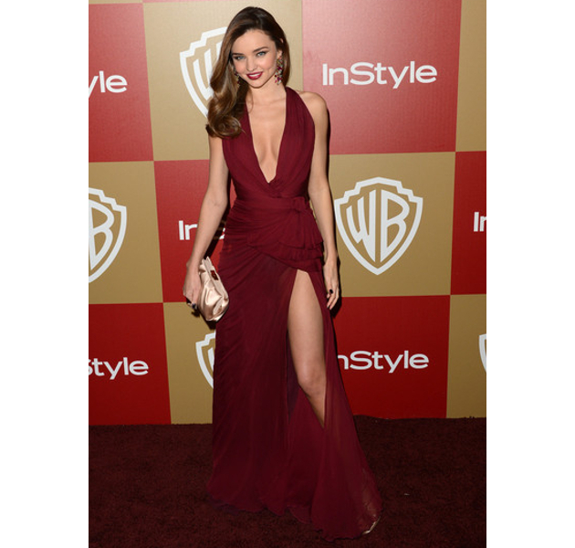 Miranda Kerr Wearing Marsala Color Of The Year 2015