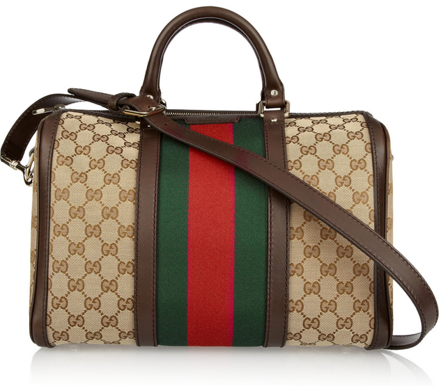 Gucci Monogrammed Canvas Tote Bag