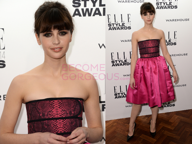 Felicity Jones Elle Style Awards 2014