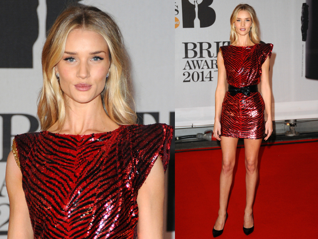 Rosie Huntington Whiteley Brit Awards 2014