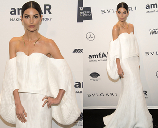 Supermodels and celebrities gathered to support AIDS research at the annual amfAR Gala in New York. See the best looks from stunning formal to haute couture.
