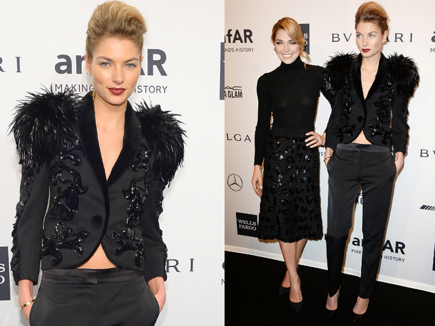 Ashley And Jessica Hart Amfar Gala 2014