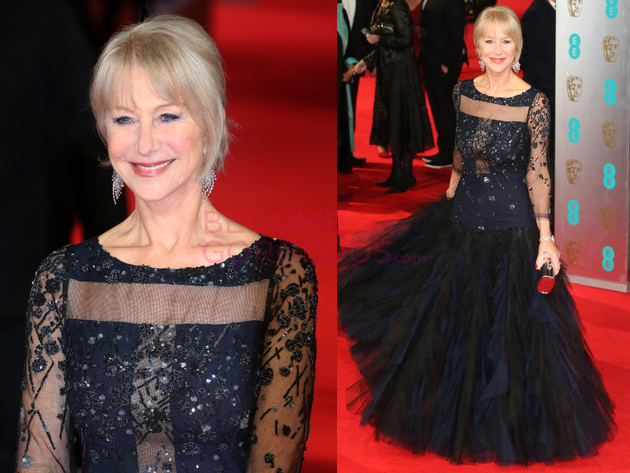Helen Mirren 2014 Bafta Red Carpet